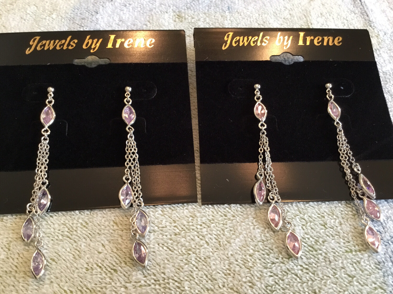 Three Strand Silver With Amethyst Or Pink Topaz Stones
