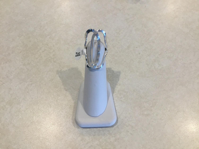 Adjustable Silver Ring ZEL-17