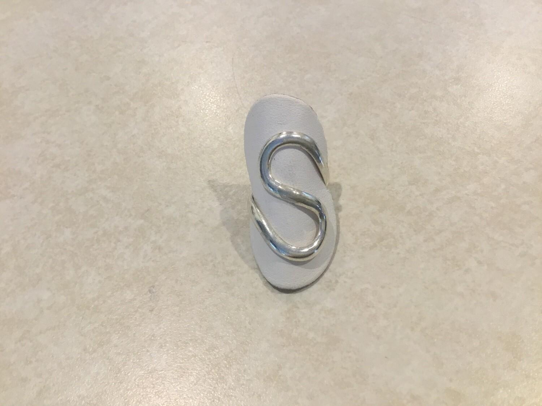 Silver Adjustable S Design Ring