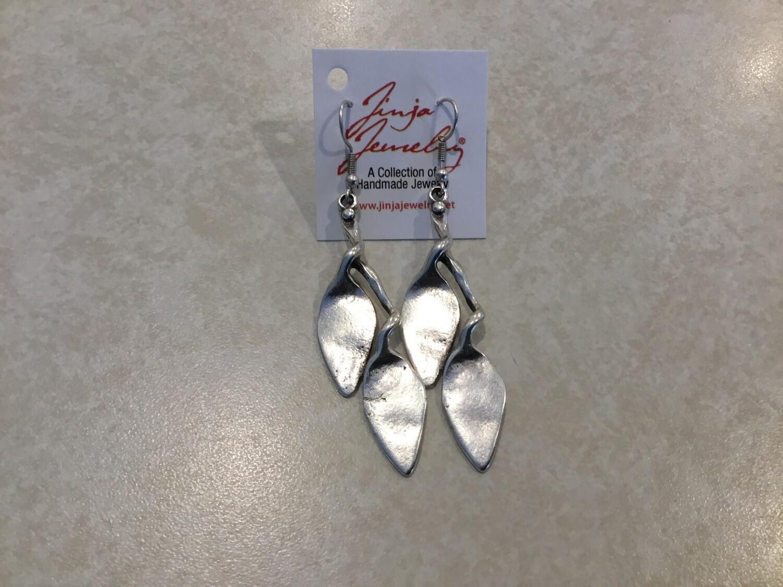 Handmade Pewter Arrow Earrings