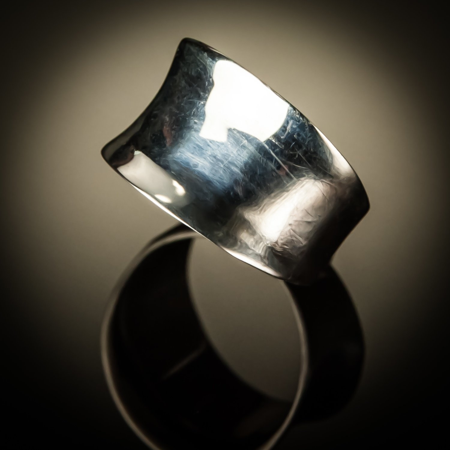 Curved Sterling Silver Ring