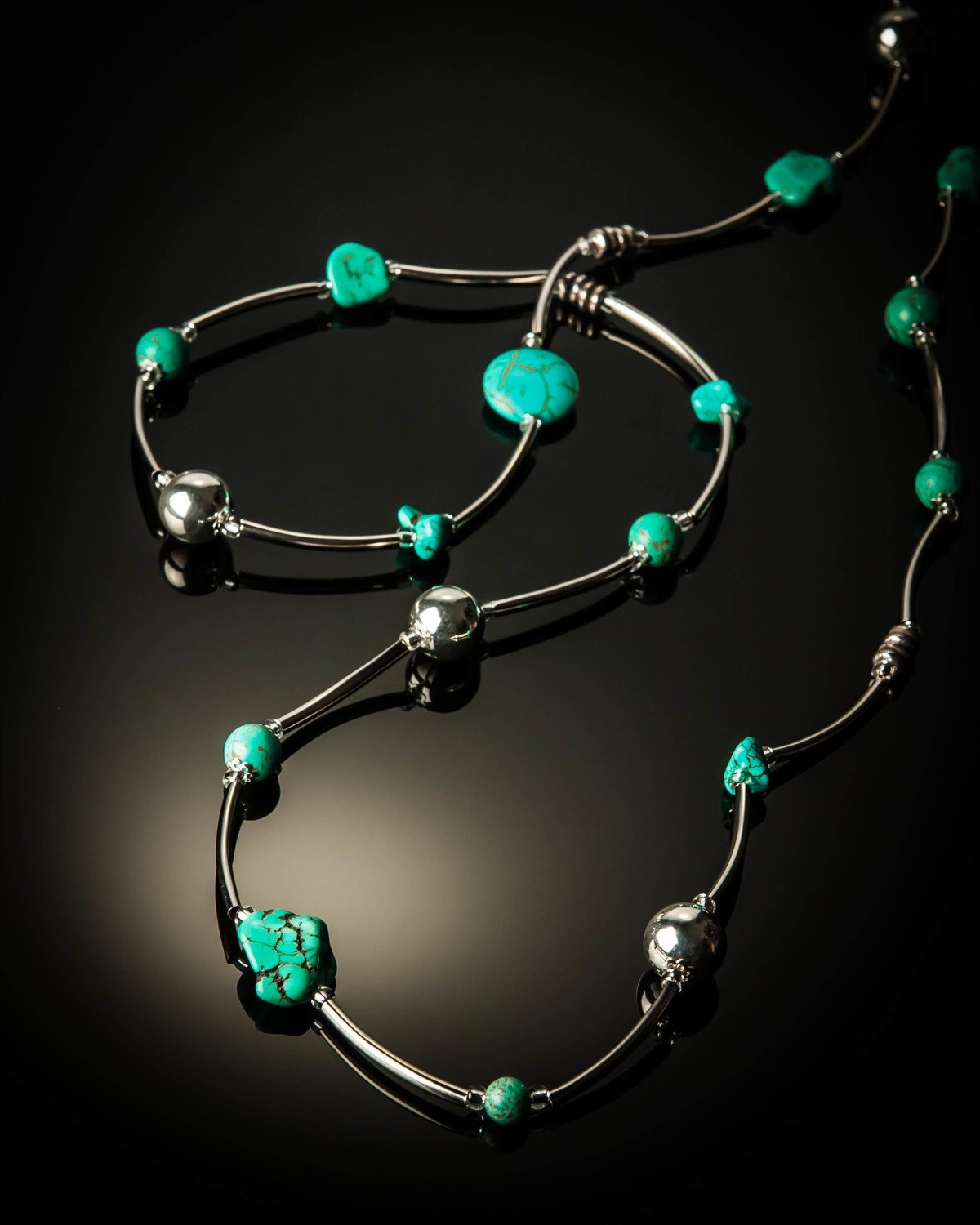 Turquoise Stainless Steel Necklace
