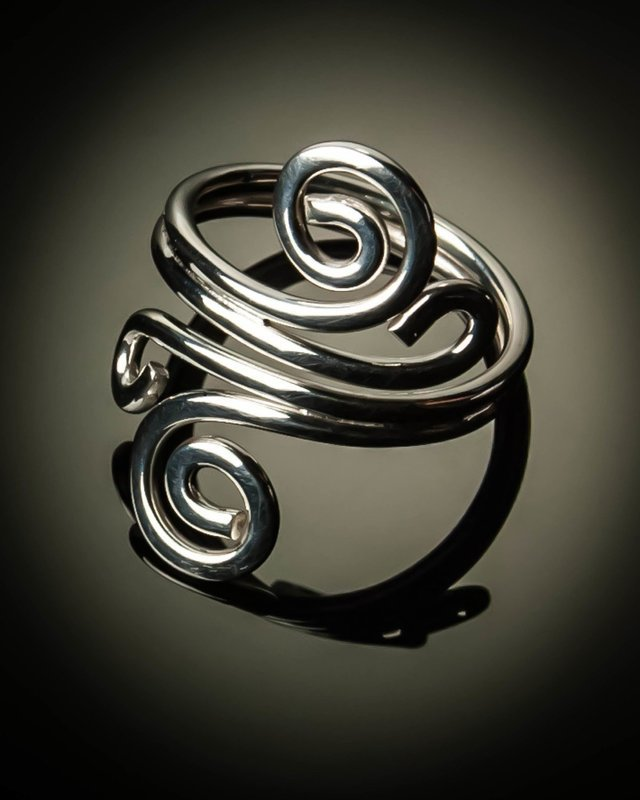 Sterling Silver Double Spiral Ring