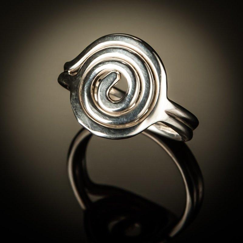 Sterling Silver Spiral Circle Ring