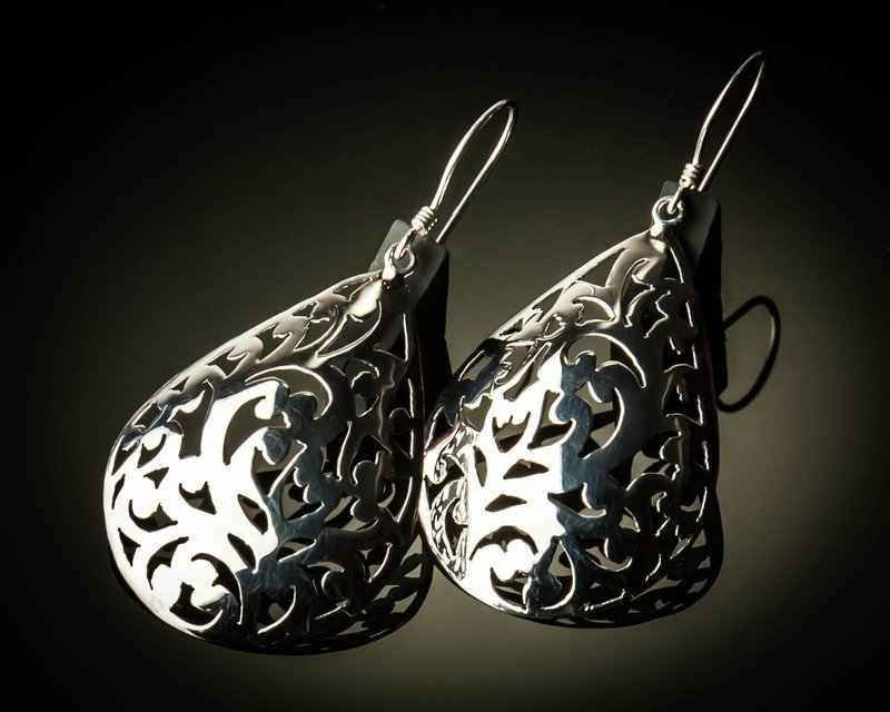 Celtic Design Sterling Silver Earrings-Small