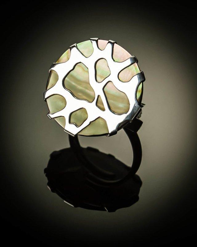 Sterling Silver Cobweb Design Ring