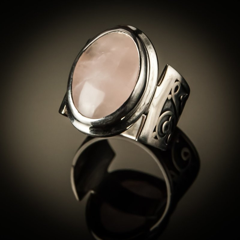 Vintage Gemstone Sterling Silver Unisex Ring