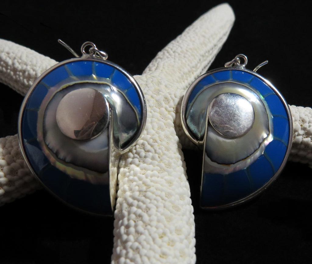 Nautilus Turquoise Earrings