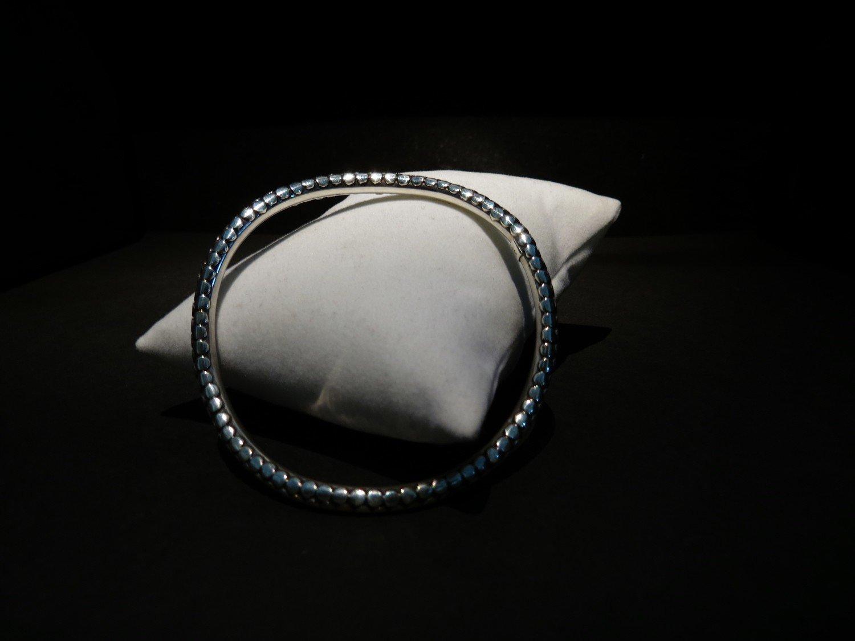 Sterling Silver Dot Swirl Bracelet