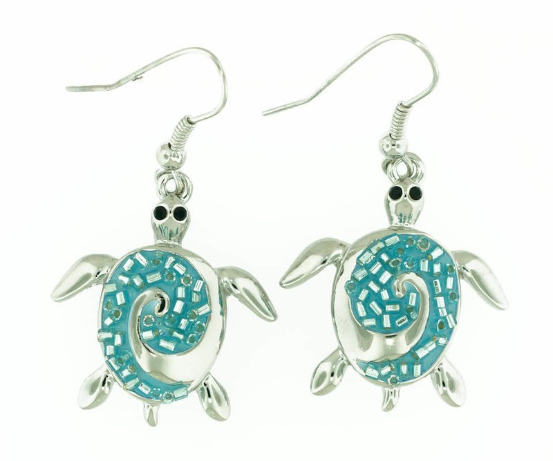 Sea Turtle Light Blue Sparkle