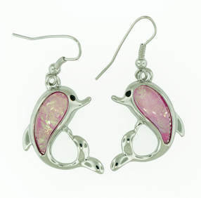 Dolphin Beach Pink Earrings