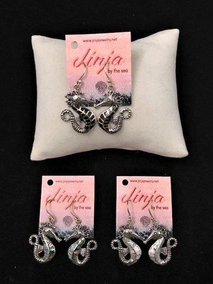 Sterling Silver Seahorse Earrings