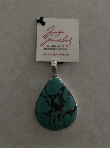 Turquoise Natural Blue Teardrop Pendant