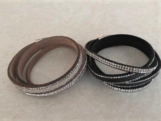 Leather Sparkle Bracelet