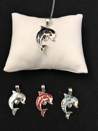Sterling Silver Dolphin Pendant