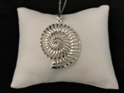 Sterling Silver Open Nautilus Shell Pendant