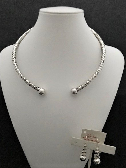 Sterling Silver Front Opening Choker