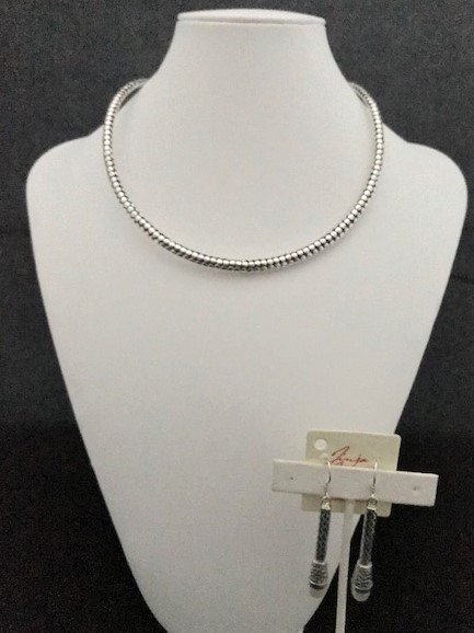 Sterling Silver Dot Choker
