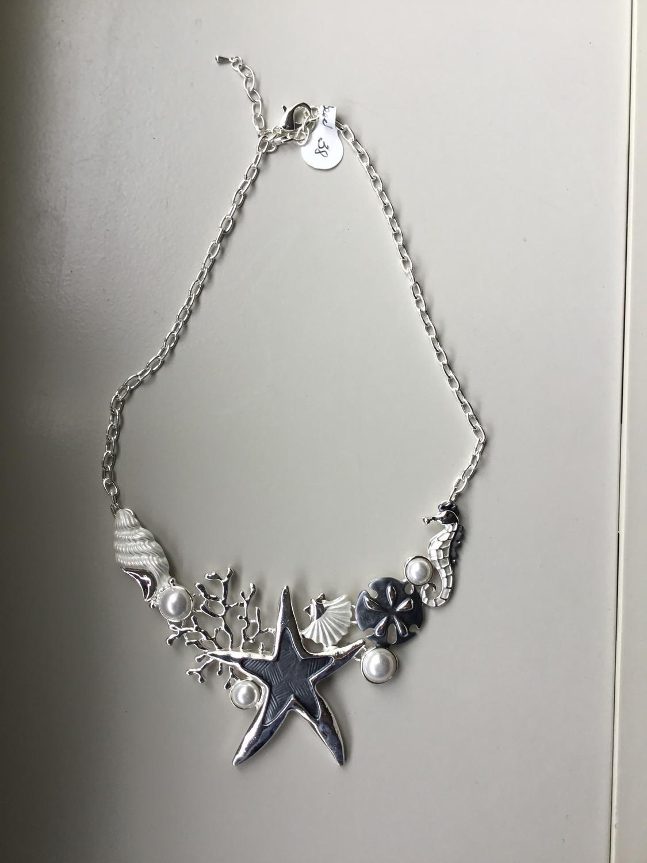Starfish Coral Sandollar Necklace