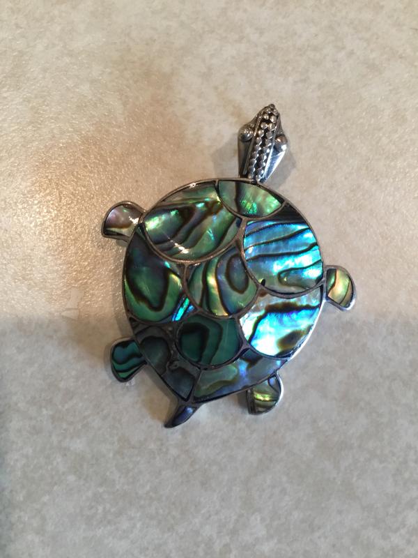 Abalone Handmade Turtle Pendant