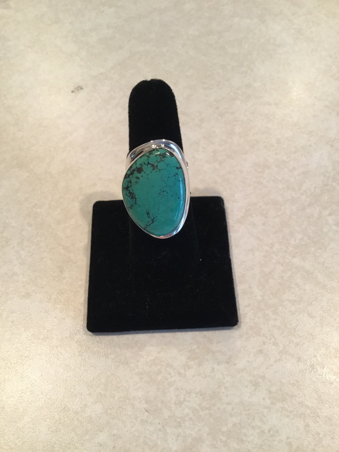 Sterling Silver Handmade Natural Green Turquoise Ring