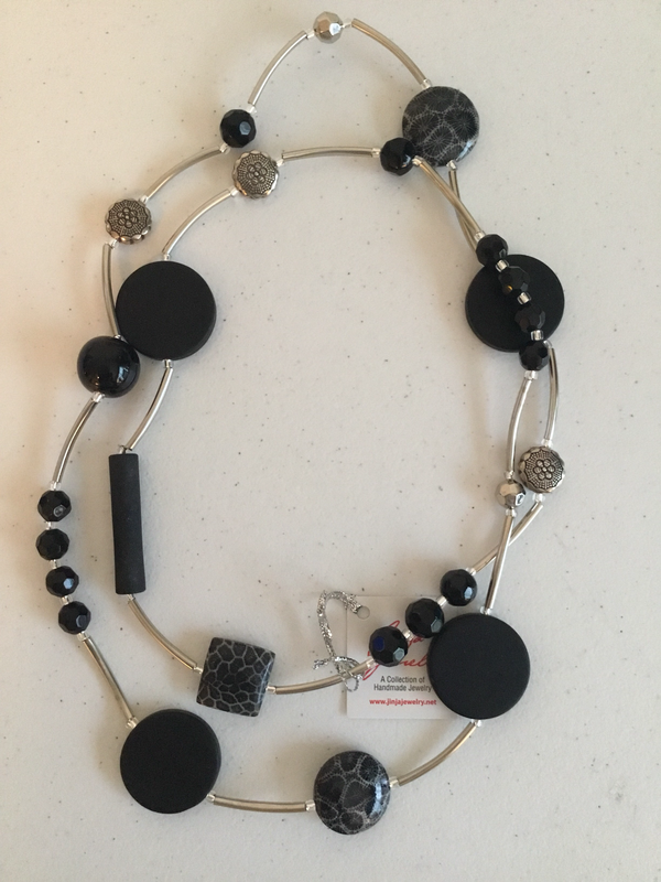 Black Coral Stainless Steel Necklace