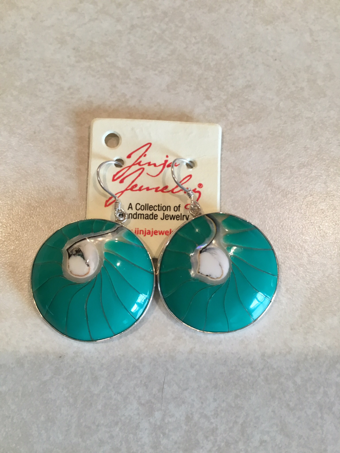 Sterling Silver Turquoise Shell Earrings