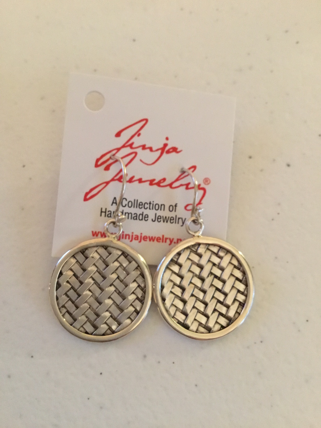 Sterling Silver Woven Circle Earrings