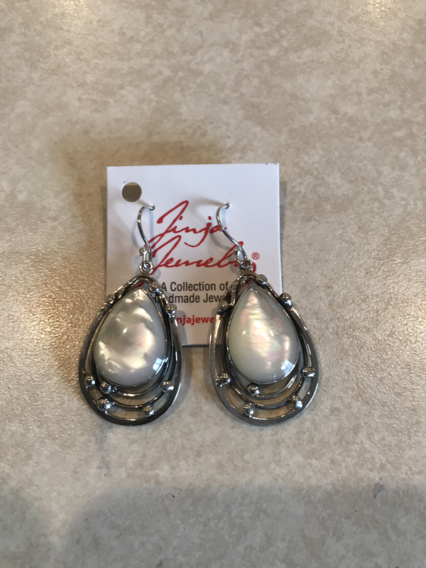 Sterling Silver Mother Of Pearl Teardrop Earrings