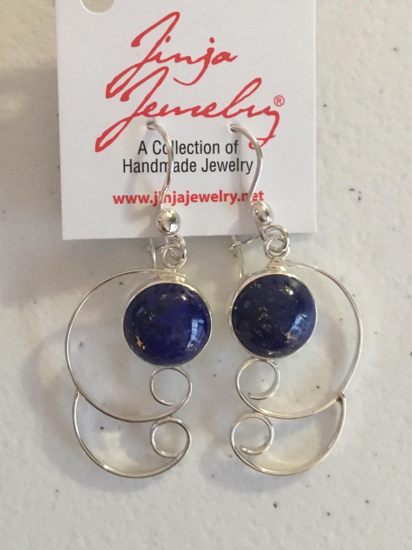 Sterling Silver Handmade Lapis Earrings