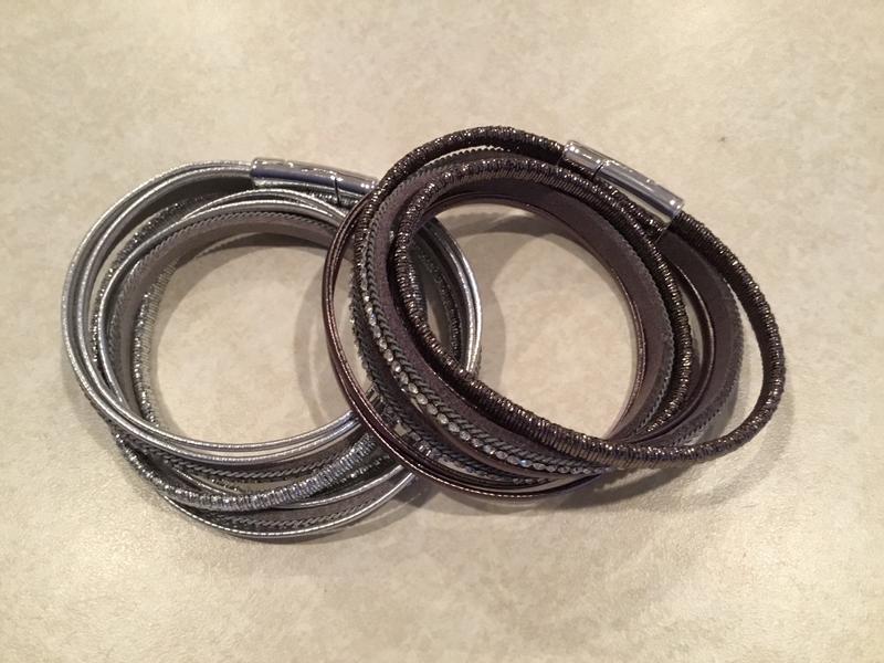 Leather 3 Row wrap Bracelet
