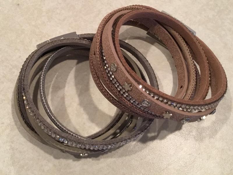 Leather Wrap Bracelet with Stars
