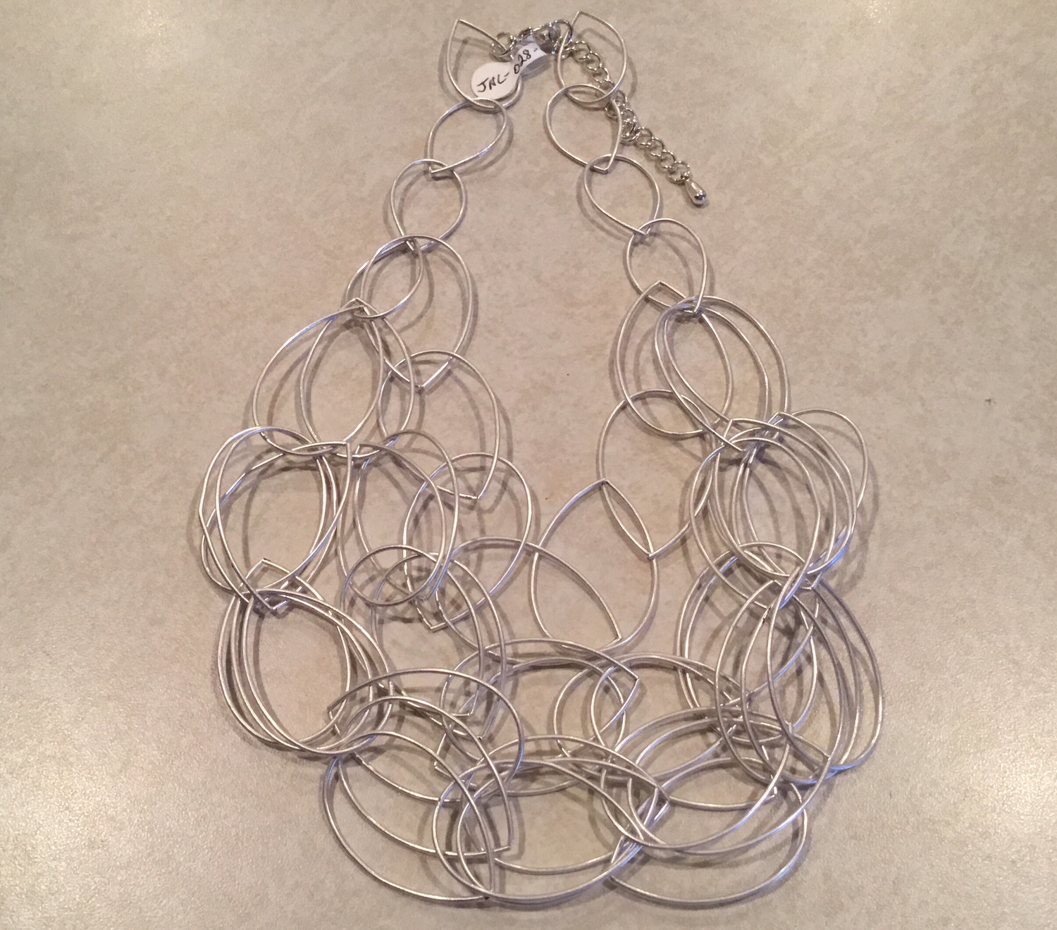 Silver Six Strand Short Necklace