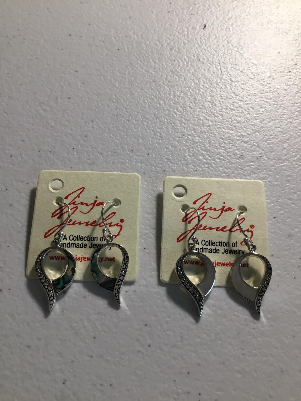 Sterling Silver Funky Teardrop Earrings