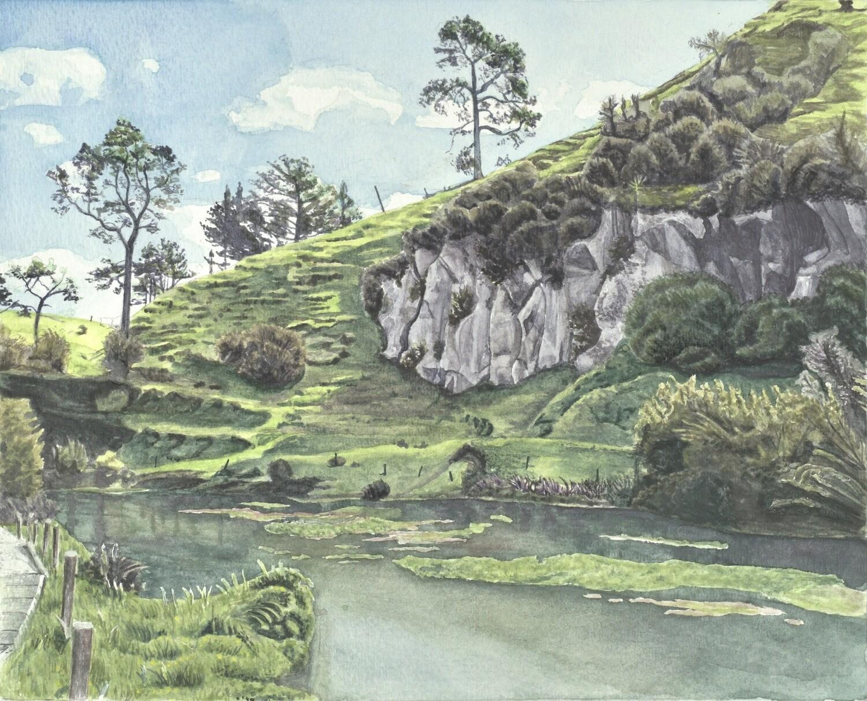 Te Waihu Walkway/Blue Springs Original Watercolour
