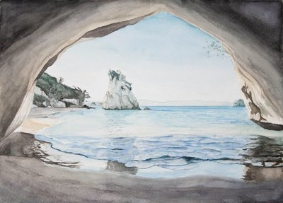 Cathedral Cove Poster Print