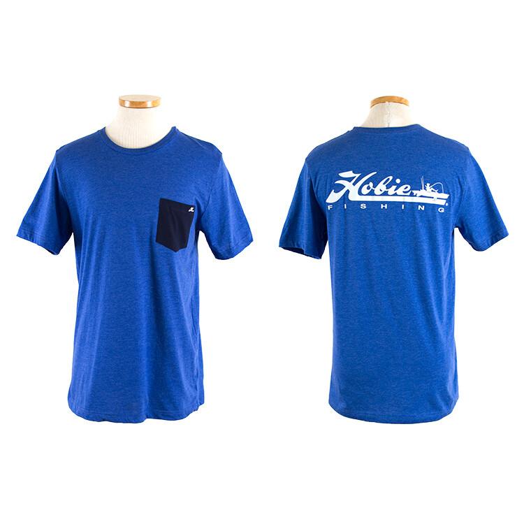 FISHING R BLUE/WHT S/S XL