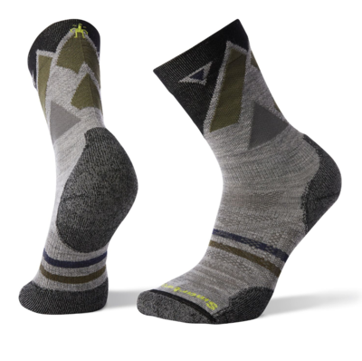 Smartwool Men's PhD Outdoor Light Pattern Crew Hiking Camping Socks