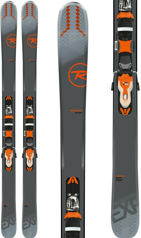 ROSSIGNOL Men's Experience 80 Ci Skis w/ Xpress 11 Bindings