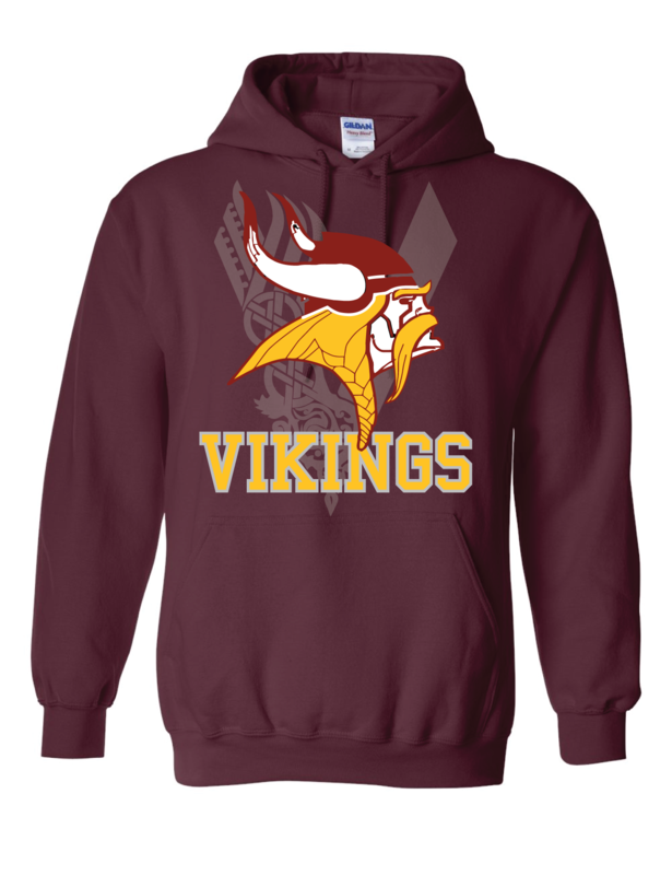 Vikings Fan Heavy Blend Hooded Sweatshirt - Gildan