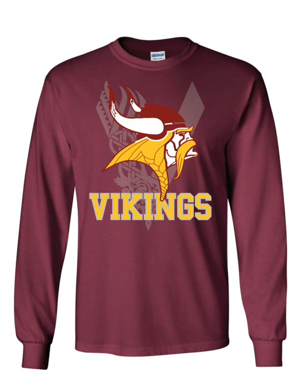 Vikings Fan Long Sleeve Shirt - Gildan - Ultra Cotton T-Shirt
