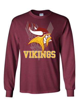 Vikings Fan Long Sleeve Shirt - Gildan - Ultra Cotton T-Shirt