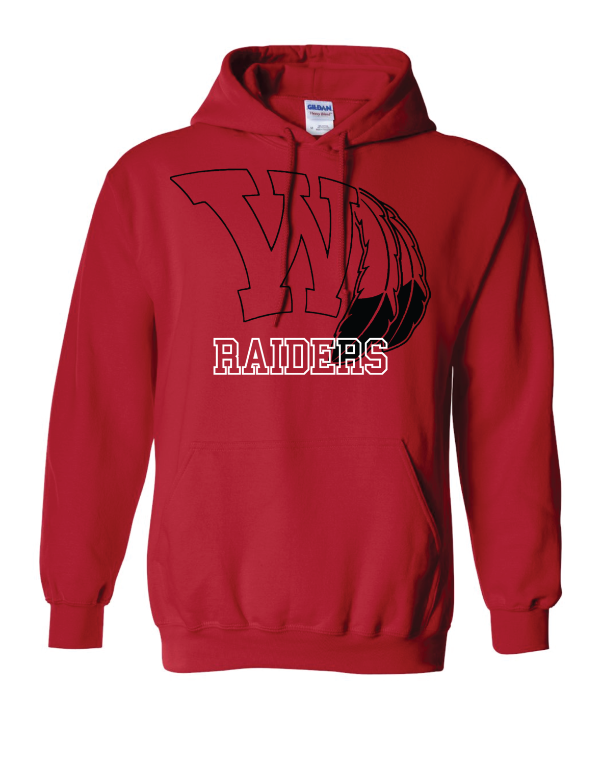 Raiders Fan Heavy Blend Hooded Sweatshirt - Gildan
