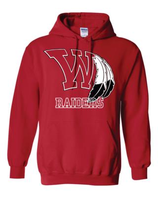 Raiders Fan Heavy Blend Hooded Sweatshirt - Gildan