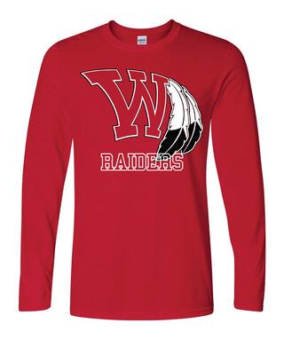 Raiders Fan Long Sleeve Shirt - Gildan - Softstyle T-Shirt