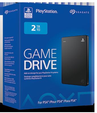 Disco Duro Externo- Game-Drive-PS4- 2 TB-USB 3.0-Negro-