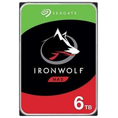 "Disco Duro Seagate- Iron Wolf- 6 TB-3.5""-7200 RPM-Sata - 256 MB-"
