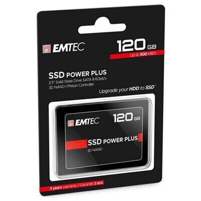 "Disco Duro Solido Emtec 120GB SSD 2.5"" 3D Nand Sata 3"