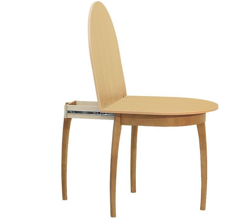 Стол обеденный овальный с выдвижным подстольем (750х805/1550х764/730 мм)