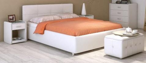 Кровать ПТИЧЬЕ ГНЕЗДО 1600*2000, кофе, встроенное дер. основание с гибкими ламелями.
